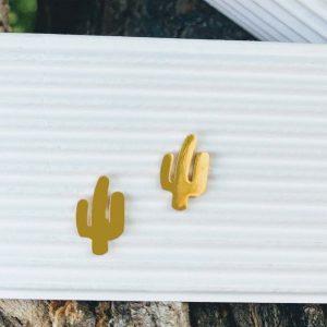 Pendientes Cactus Dorados