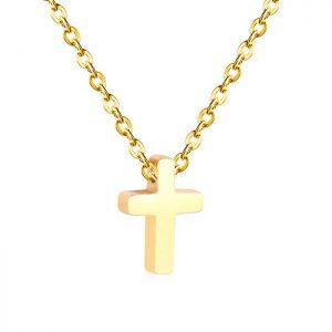 Cadena con Colgante Cruz Oro