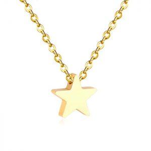 Cadena con Colgante Estrella Oro
