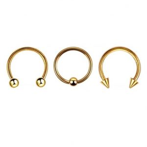 Piercing Barbell Round Oro