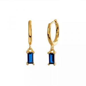 Pendientes Lilibeth Oro Azul